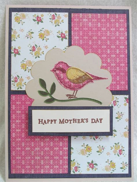 Mothers Day Handmade Cards - savvy handmade cards s day bird card