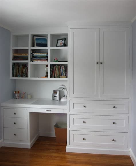 Wardrobe With Built In Desk by Grusby Woodworks Work Desk And Dresser