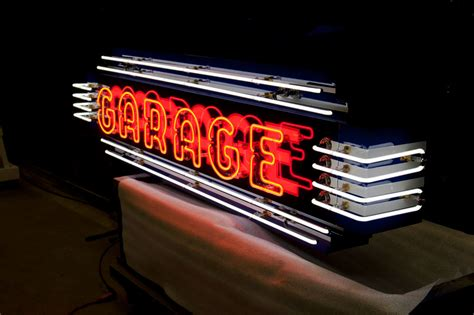 Garage Sign by Image Gallery Neon Garage Signs