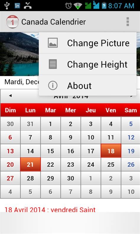 Calendrier Canadien 2014 Canada Calendrier 2015 Android Apps On Play