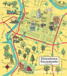 map california sacramento medium sized downtown sacramento map
