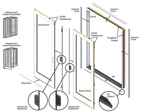 Patio Door Repair Parts Andersen Frenchwood Hinged Patio Door Replacement Parts