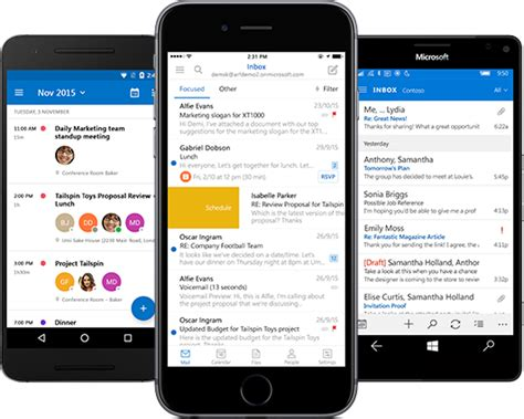 Yahoo Calendar Android Get Outlook Email On Your Mobile Device