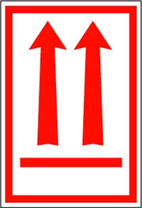 red arrow orientation handling label mm  mm rolls