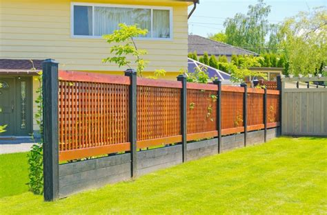 backyard fence styles fence styles and designs for backyard front yard images