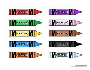 Crayon Labels Template by Tim De Vall Comics Printables For