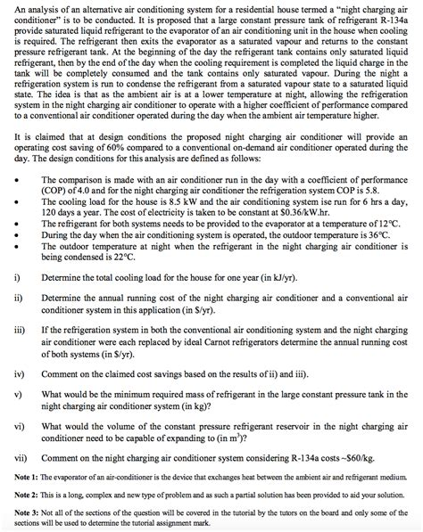 night section 4 questions an analysis of an alternative air conditioning sys