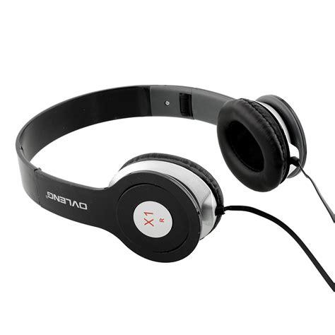 ovleng x1 black adjustable headphones mp3 stereo ear