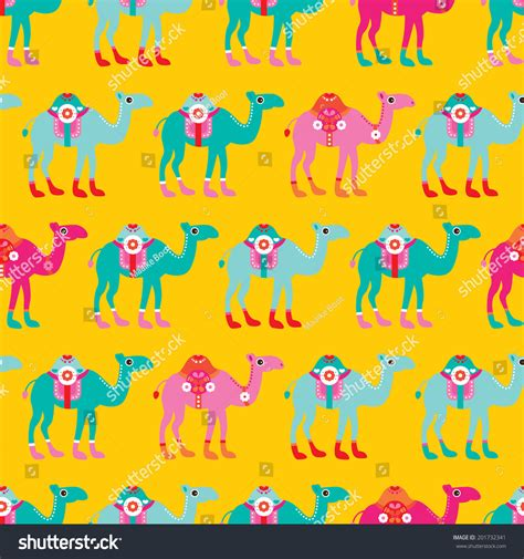 themes meaning in arabic seamless kids camel parade illustration arabic theme