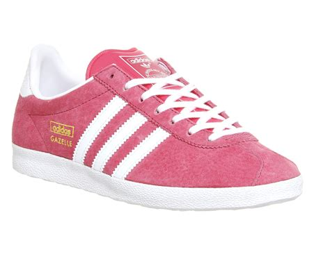 adidas gazelle og lush pink white metallic gold trainers shoes ebay