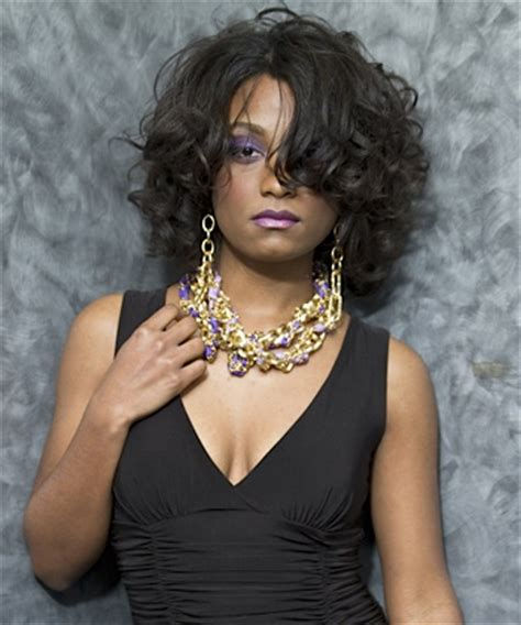 hairstyles for medium length hair for african american curling relaxed african american hair with a flat iron