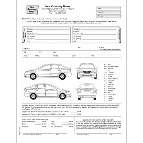 car damage report template car damage report form pdf car pictures car