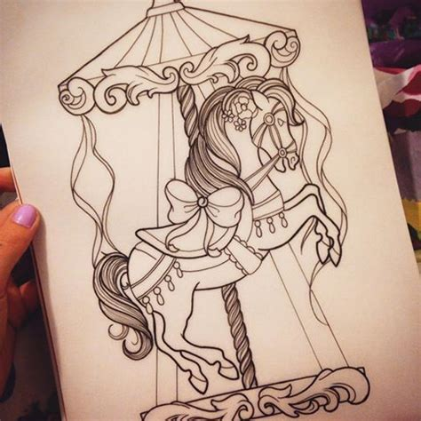 carousel horse tattoo designs 25 best ideas about carousel on