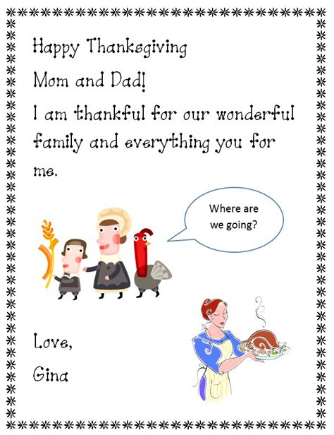 Thank You Letter To 1st Grade Happy Thanksgiving Letter Writing K 5 Computer Lab