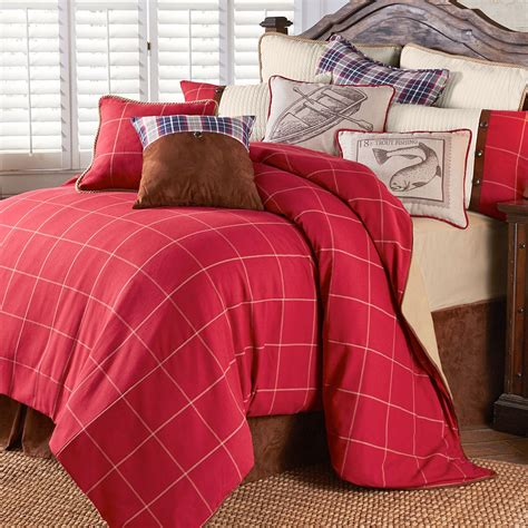 red plaid bedding south haven rustic red plaid comforter bedding