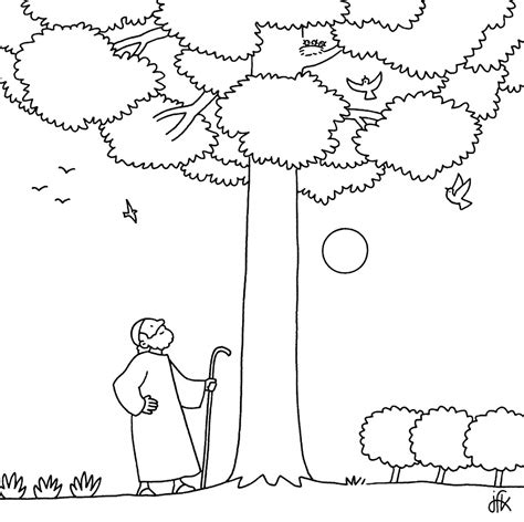 coloring page of a fig tree fig trees coloring pages