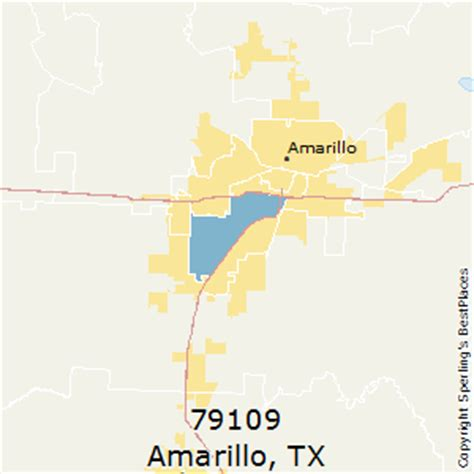 amarillo texas zip code map best places to live in amarillo zip 79109 texas
