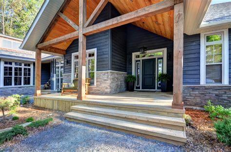 muskoka log home rustic outdoor lighting toronto sunny bay cottage on lake muskoka rustic exterior