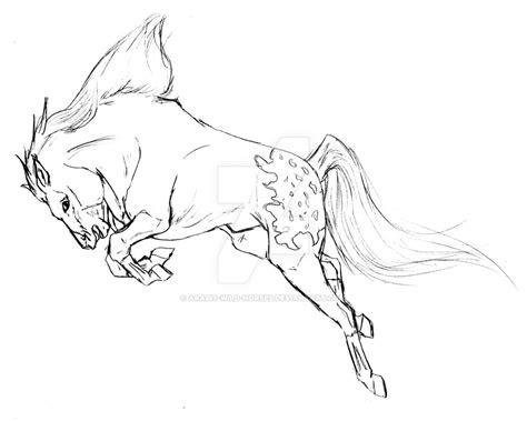mustang horse drawing horse bucking drawing