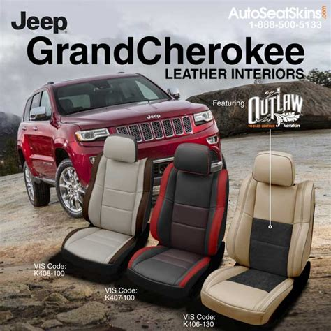 jeep grand leather seats katzkin design jeep grand interiors