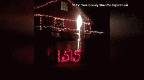 York County Sheriff S Office maine light display depicts santa on lettering wjla