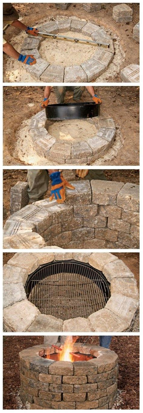 How To Build Your Own Fire Pit Homemade Swimming And Lady Build Your Own Firepit