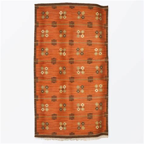Modern Flat Weave Rugs Scandinavian Modern Wool Flat Weave Rug With Pattern On A Terra Cotta Ground For Sale At 1stdibs