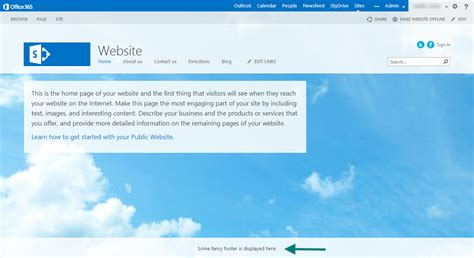 Layout Design Online sharepoint 2013 how to add a footer to the oslo