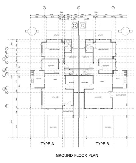 single storey semi detached house floor plan curtin water 2014 single storey semi detached house phase 2