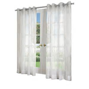 Lowes Kitchen Curtains Design Decor 84 In L White Sheer Lowe S Canada
