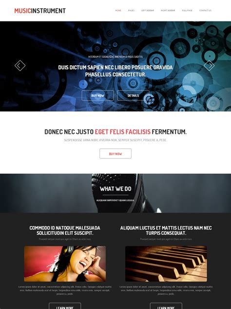 Piano Html Template Music Website Templates Dreamtemplate Piano Website Template