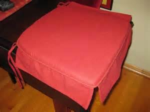 Skirted Chair Cushion 4 X Pier 1 Burnt Linen Cotton Skirted Chair Pads