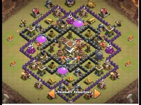 coc layout anti dragon th8 download video clash of clans 2015 th8 war base the