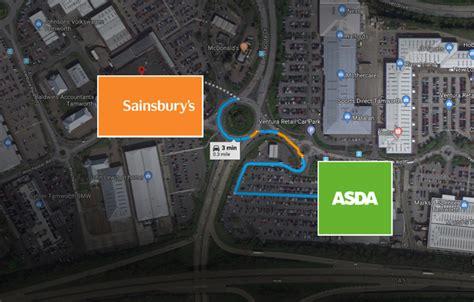 asda  sainsburys merger   stores close