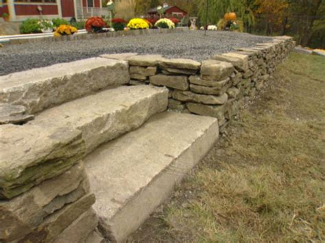 How To Build A Garden Wall How To Build A Stack Retaining Wall How Tos Diy