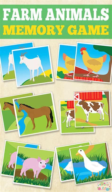Itsy Bitsy Animals printable farm animals memory itsy bitsy