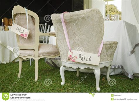 And Groom Chairs by Diy Chairs For And Groom Stock Photo Image 54456916