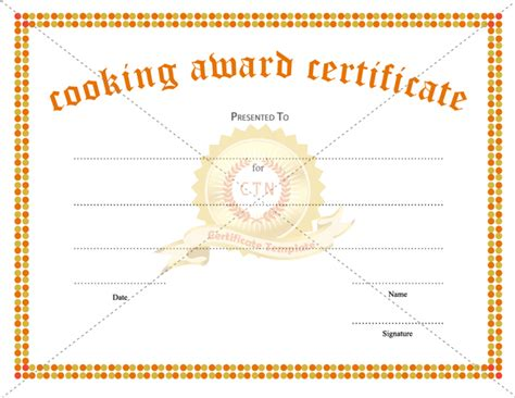 cooking certificate related keywords cooking certificate