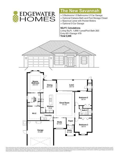 Charleston Floor Plans by The New Savannah Edgewater Homes Custom Floorplan