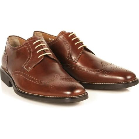 brown shoes michael toschi hessling wing tip shoes brown