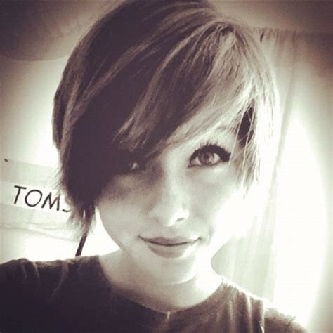 stacked pixie with long bangs 217 best images about brunette pixie cuts on pinterest