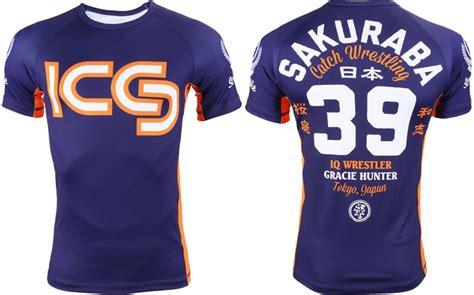 T Shirt Saku Kazushi Sakuraba fighterxfashion scramble sakuraba gracie rashguard