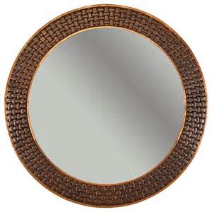 34 quot copper mirror with braid design asian wall