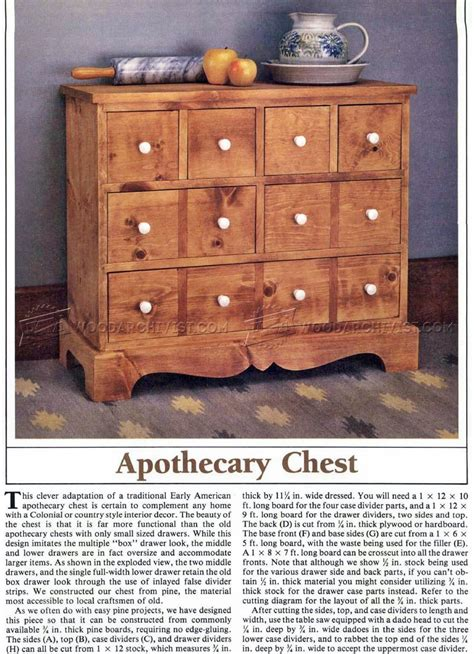 apothecary chest plans woodarchivist
