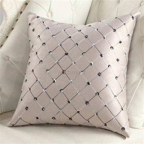 elegant sofa pillows elegant plaid throw pillow case home bed sofa decorative