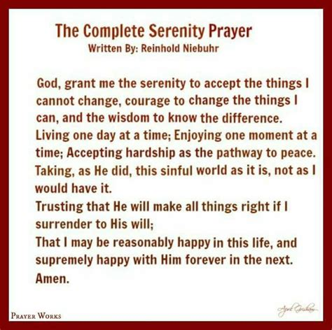 printable version of the serenity prayer las 25 mejores ideas sobre full serenity prayer en