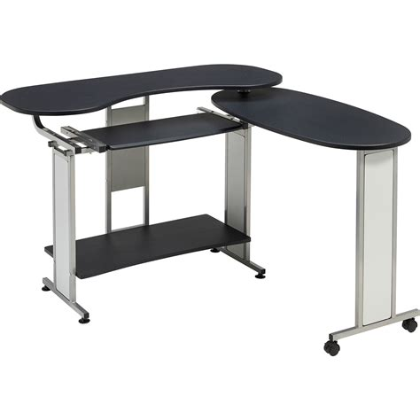 Compact Folding Computer Desk W Shelf Home Office Folding Office Desk