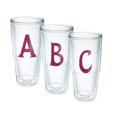 bed bath and beyond tumblers tervis 174 pink sequined letter tumblers bed bath beyond
