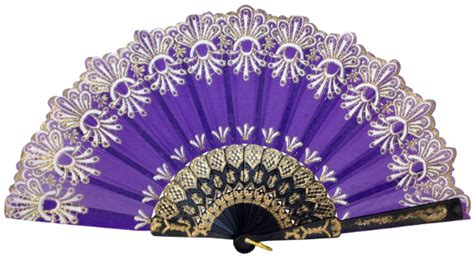 where to buy hand fans in stores folding silk hand fan 9 quot purple with gold flower pattern