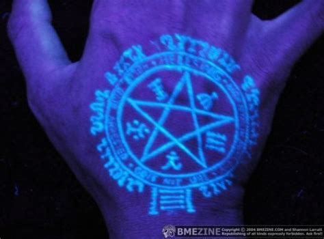 uv tattoo pictures tattoo ideas blacklight uv glow in the dark devils trap